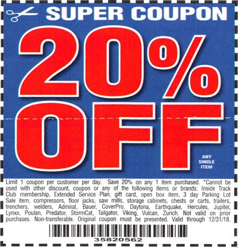 harbor freight coupons 20 off printable harbor freight coupons promo codes deals 2018 couponshy