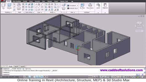 home cad autocad 3d house modeling tutorial 1 3d home design