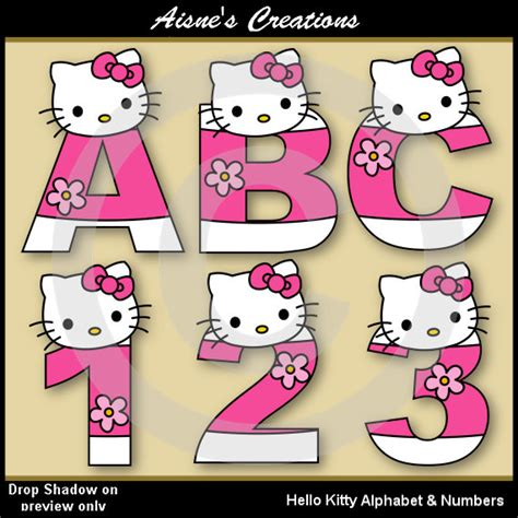 printable hello kitty numbers hello kitty alphabet letters numbers clip art graphics