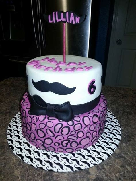 themed birthday cakes houston pink and purple mustache cake in fondant girls birthday
