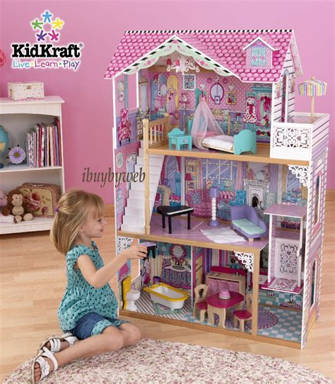 dolls house fashion kidkraft 65079 kids girls annabelle dollhouse big large