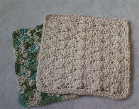 pattern crochet dishcloth simple shell dishcloth pattern to crochet photos