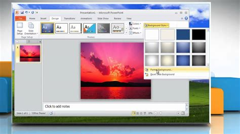 ppt themes windows microsoft 174 powerpoint 2010 how to make backgrounds on