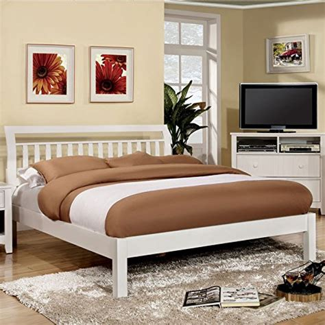 Corry Set Modern corry classic transitional style white finish size bed frame set bed frames