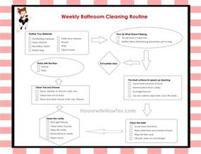 bathroom routine printables weekly house cleaning checklist with images 183 jessgerald