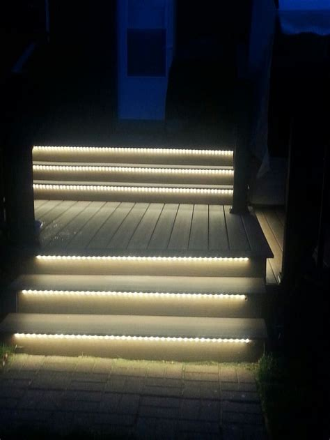 outdoor led lighting  stairs  light   night warm white flexible strips