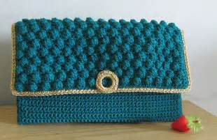 Tas Rajut Set Hobo crochet tutorial merajut dompet pesta bobble stitch