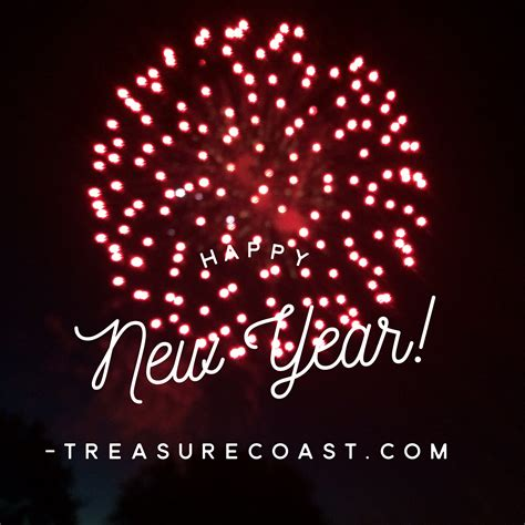 wishing everyone a happy new year 2018 treasure coast