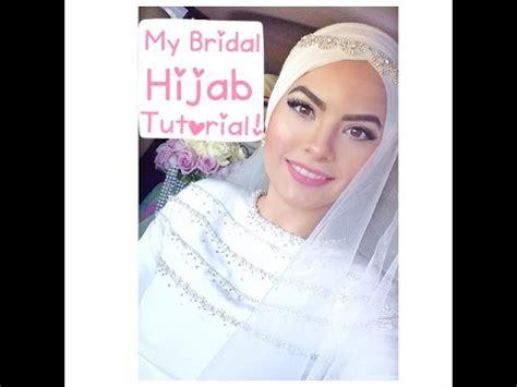 tutorial hijab wedding my bridal hijab tutorial youtube
