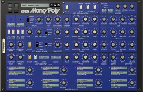 Reason Rack Extensions by Kvr Korg Releases Mono Poly Rack Extension For Reason