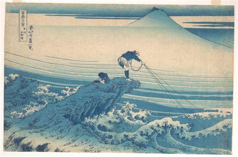 katsushika hokusai kajikazawa  kai province koshu