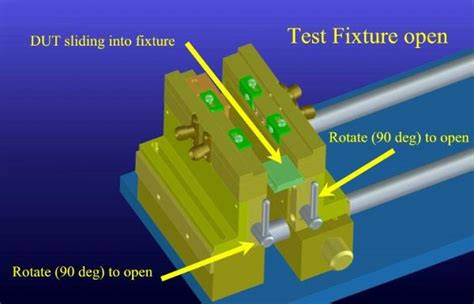 inductor test fixture microwave test fixtures manufacture of microwave test fixtures custom microwave test fixtures