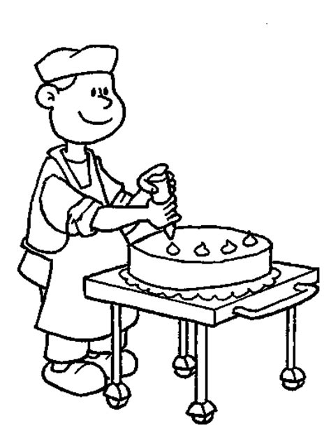 baker coloring pages for kids