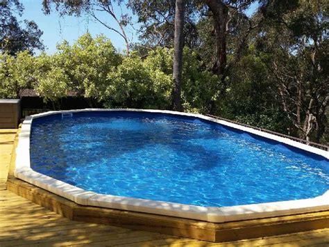ideas and benefits of a semi inground pool backyard