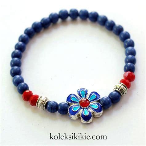 Ring O Bahan Aksesoris Pengait Kalung Pengait Gelang tutorial membuat gelang bunga biru koleksikikie