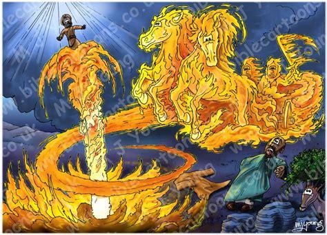 elijah and chariot of fire bible cartoons 2 kings 02 elijah taken into heaven