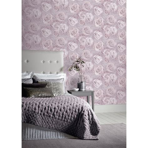 reverie mauve purple wallpaper departments diy at b q arthouse reverie wallpaper blush decorating b m stores