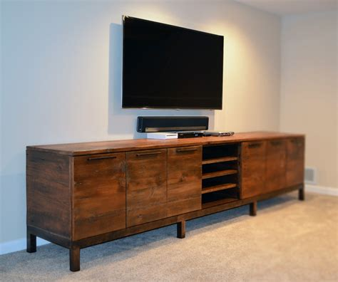 Rustic Entertainment Center Tv Stand Media Console Table Reclaimed Wood Media Center Console Rustic