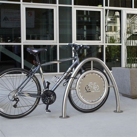 Stainless Steel Bike Rack by Arch Bike Rack In Stainless Steel With Standard Medallion
