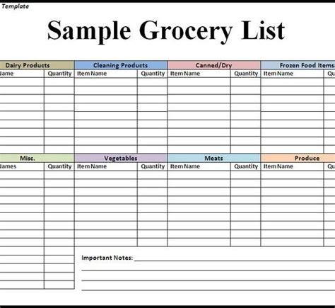 recipe list template stunning grocery price list template ideas exle