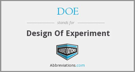 design of experiment doe was coined by doe design of experiment