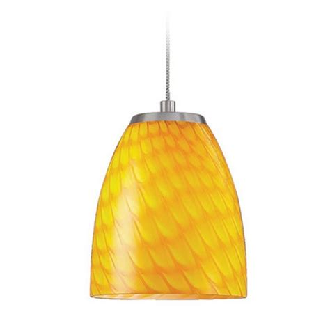 Yellow Pendant Light Low Voltage Led Mini Pendant Light With Yellow Glass Pf1000 1 Led Bn Cn Destination Lighting