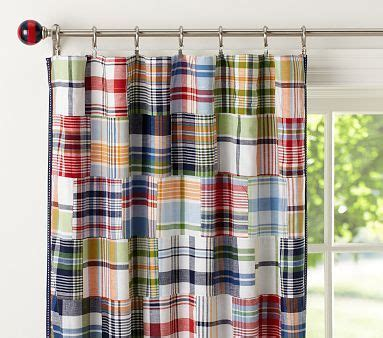 pottery barn kids madras curtains boys room love the madras pattern for a bed so many