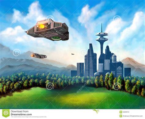 futuristic cloud city skyscraper could bring the dream of futuristic city stock illustration illustration of field
