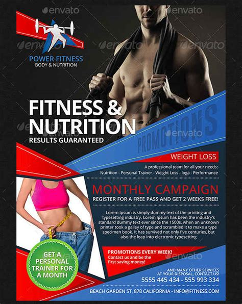 templates for personal training flyers fitness flyer exles free premium templates