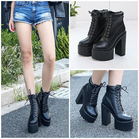 Sepatu High Heelspump Shoes Import 14cm Black jual shb18881 black sepatu boots fashion wanita 15cm