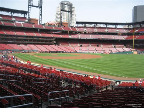 busch stadium section  rateyourseatscom