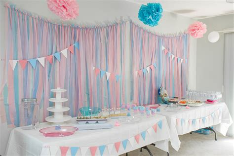 Home Made Baby Shower Decorations by Castle Avenue Blog Gender Reveal Party
