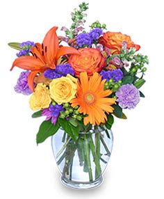 sunset waltz vase of flowers vase arrangements flower
