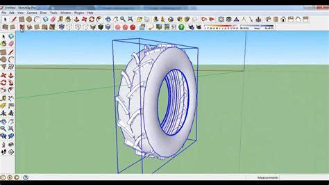 tutorial sketchup car sketchup tractor tire wheel tutorial 2 youtube