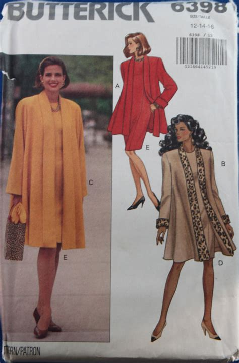 vintage pattern butterick vintage 1990s womens pattern butterick misses coat dress