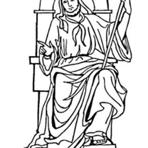 king on throne coloring page bible character coloring king saul netart