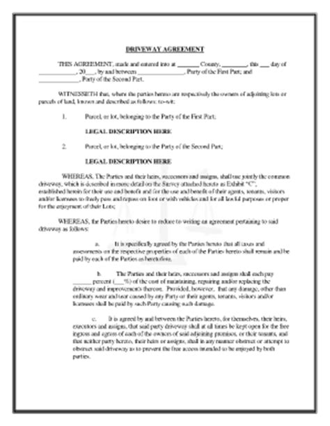 easement agreement template best photos of joint agreement forms sle joint