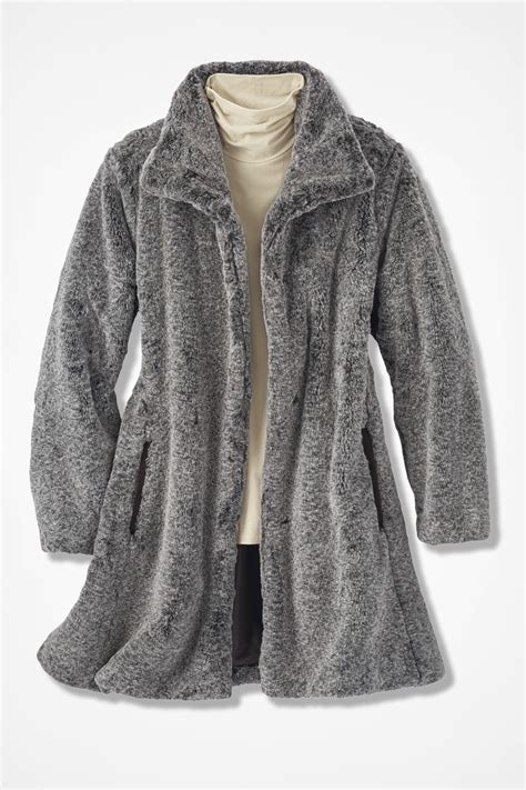 fur swing coat faux fur swing coat coldwater creek