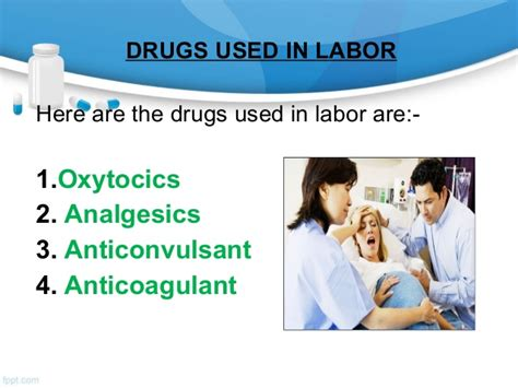 drugs used in labour room ppt chadha