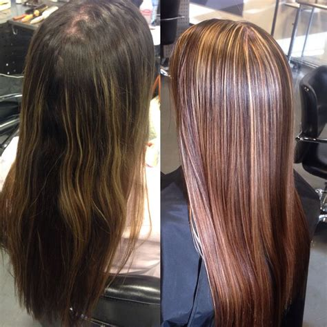 pictires of highlights with smsll lowlights before and after blonde highlights and brown lowlights