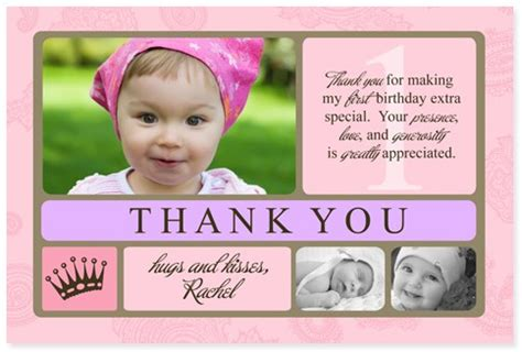 1st Birthday Thank You Card Wording Thank You For The Birthday Card Gangcraft Net