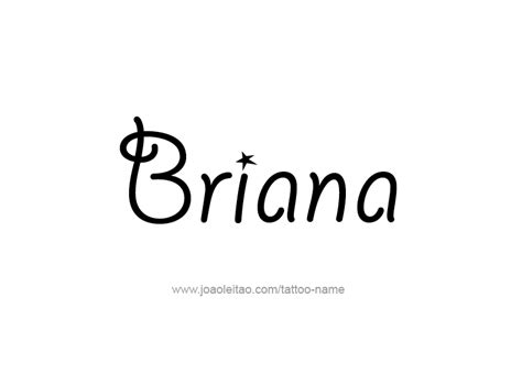 briana name tattoo designs