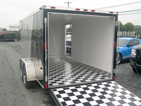Motorcycle Trailer Flooring by Checkerboard Flooring For Enclosed Trailer Gurus Floor