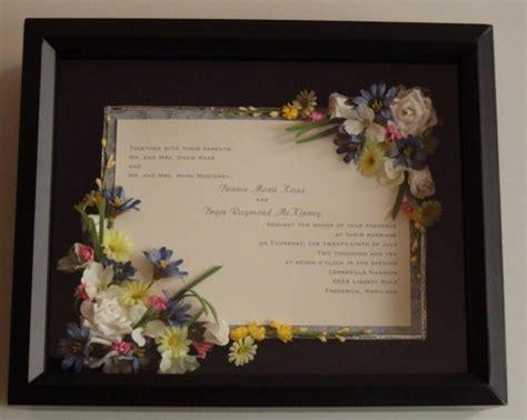 Wedding Invitation Shadow Box items similar to single page wedding invitation shadow box