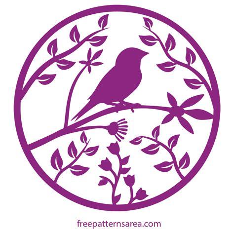 pattern svg files bird in the tree printable cut template freepatternsarea