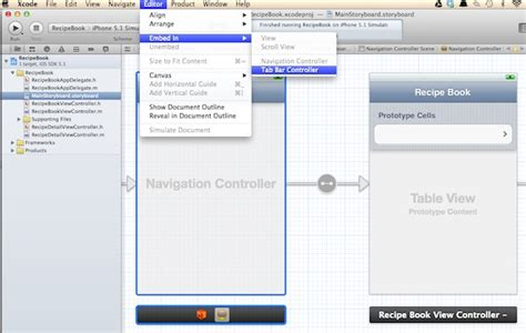 xcode webview layout storyboard tutorial create tab bar controller and web