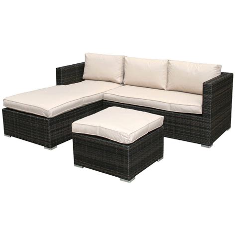 brown rattan sofa set bentley garden l shaped rattan outdoor sofa set