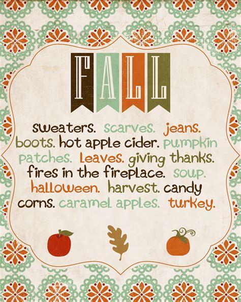 Fall Printables