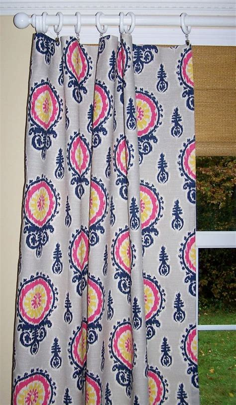 Pink And Navy Curtains Curtains In Premier Prints Collection In Navy Pink Birch Windows Pinterest