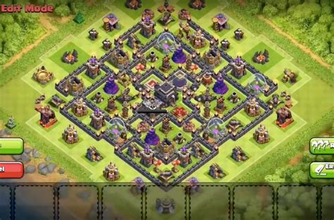 air sweeper town hall 9 farming base best clash of clans town hall 9 hybrid base layout